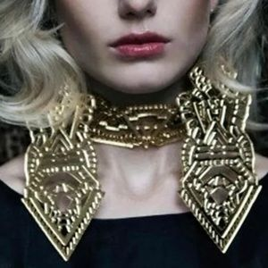 Jewelry - Reflective mirror earrings huge big long gold